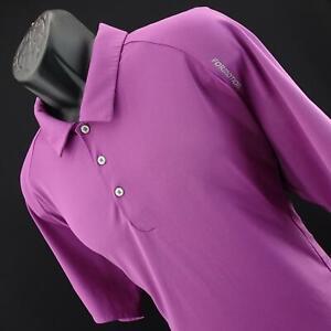 Mens-Adidas-ClimaCool-Formotion-Purple-Athletic-Golf-Polo-Shirt-Size-2XL-XXL
