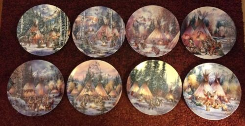 Sacred Circle Set Of 8 Decorative Plates By Kirk Randle from Bradford Exchange