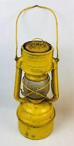 Vintage Feuerhand 276 yellow kerosine petrol lamp lantern Jena glass Germany