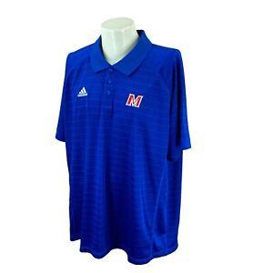 Adidas Select Men's Climalite Short Sleeve M Logo Blue Polo NWT Shirt 2XL