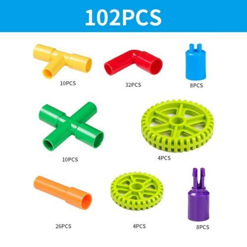 HOT Pipe Building Blocks Assembling Toy Kid Tunnel Block Model Compatible Bricks