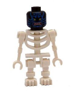 Lego Skelett schwarz weiss Kopf Teufel in rot Minifigur Figur Legofigur Neu