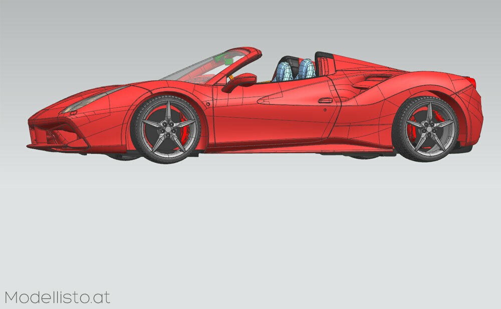 Alpha Model Ferrari 488 Spider 1 24
