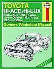 Toyota Hi-Lux / Hi-Ace Owner's Workshop Manual (2013, Taschenbuch)