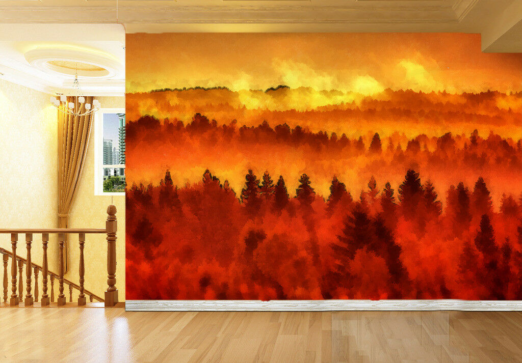 3D Dusk Forest 689 Wall Paper Wall Print Decal Deco Indoor Wall Mural CA