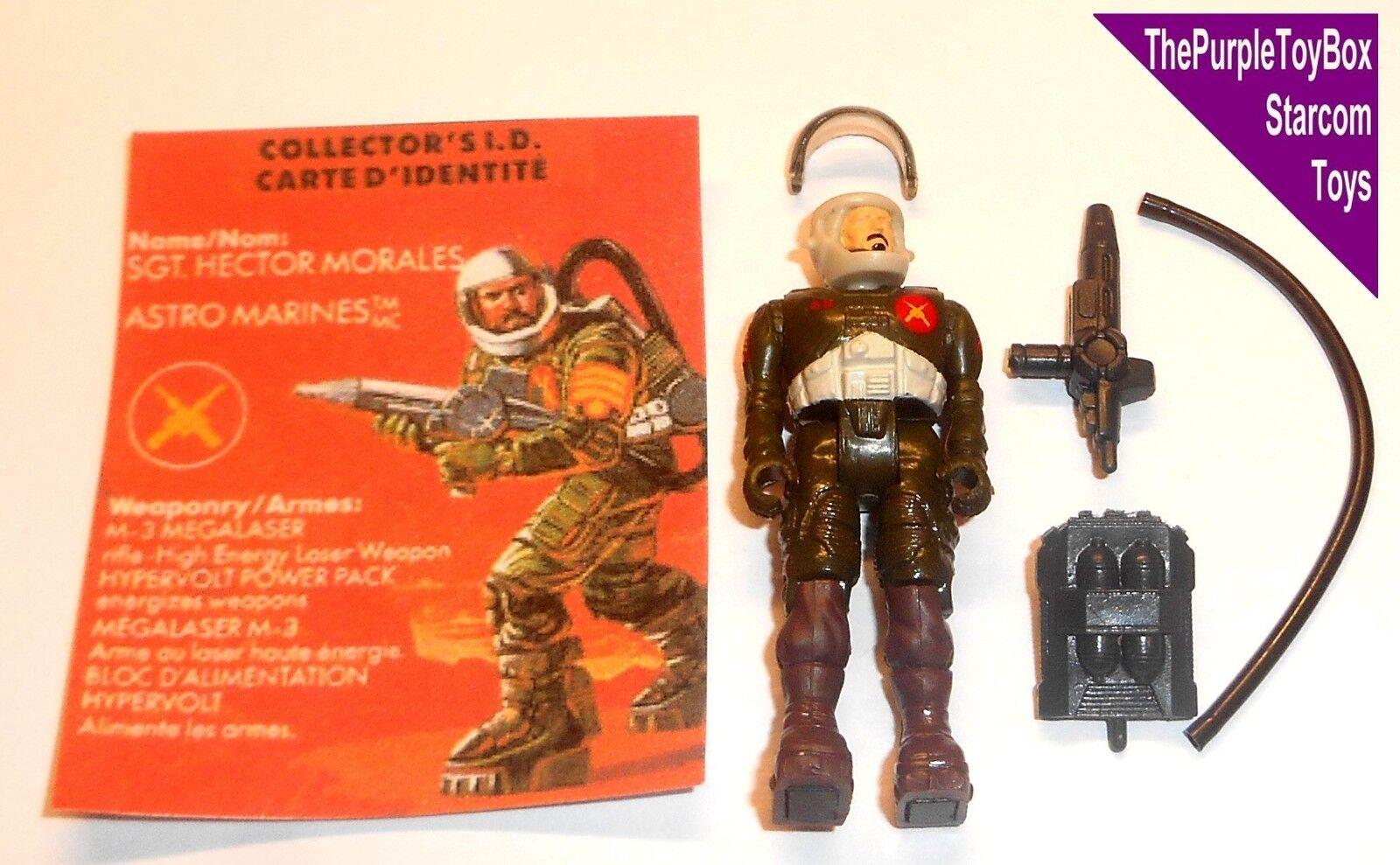 (E037) Vintage 1980's Starcom Toys  SGT. HECTOR MORALES  Astro Marines