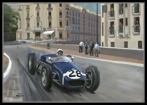 Painting-1960-Monaco-Grand-Prix-by-Toon-Nagtegaal
