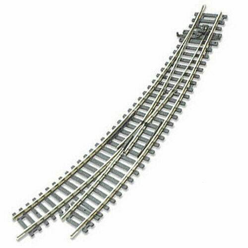 Code 100 Left-Hand Nickel-Silver Curved Turnout Railroad HO Track PECO #ST-245