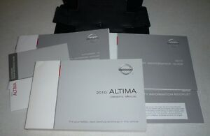 2010 nissan altima sedan owners manual set 10 s 2 5 sr v6 guide w rh ebay com 2012 Nissan Altima Sedan 2012 Nissan Altima Sedan