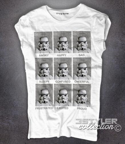 T-shirt donna Stormtrooper expressions espressioni truppe d/'assalto Yoda Fener