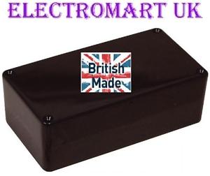 In plastica ABS Nero Scatola Elettronica Progetto Recinzione 150 x 80 x 50mm