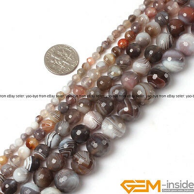 """Natural Genuine Gemstone Faceted Round Jewelry Making Spacer Beads Wholesale 15"""""""