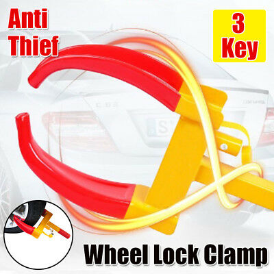 Heavy Duty Anti Theft Vehicle Wheel Lock for Car Trailer Zento Deals Security Tire Clamp
