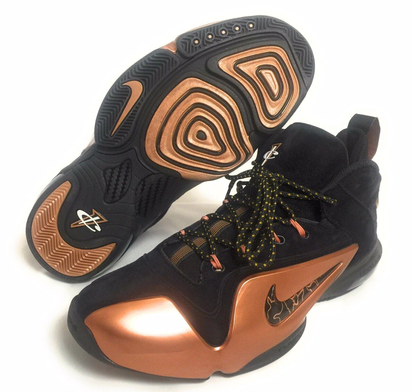 size 40 edacc 1a85d NEW Nike Zoom Penny VI 6 Men s Basketball shoes Black Black Black gold  749629-001