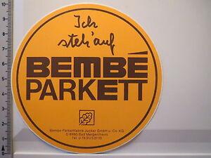 Details zu Aufkleber Sticker Bembe Parkett Fabrik Bad Mergentheim Decal  (4047)