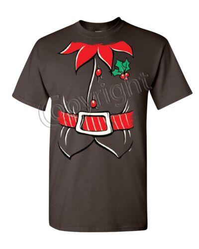 Elf Shirt T-Shirt Funny Christmas Xmas New Year Holiday Spirit Mens