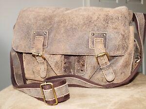 Leather Genuine Distressed Shoulder Messenger Kane Mess cruzado bolso Denning vqwgH7A