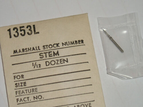 Venus winding stem 210 211 tige de remontoir Aufzugswelle Marshall 1353L