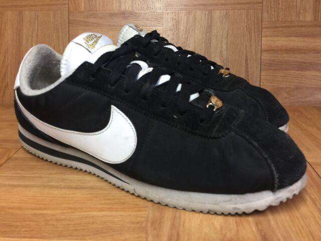 sale retailer 25ca6 824a9 RARE🔥 Nike Cortez Compton Basic Nylon Premium Sz 11 902804-001 Black Gold  White
