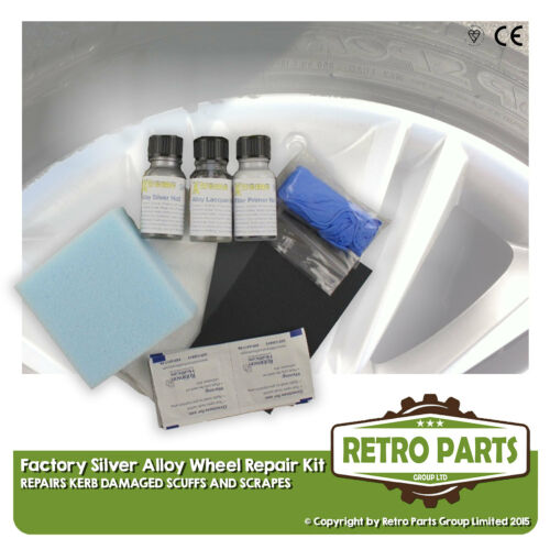 Kerb Damage Scuff Scrape Silver Alloy Wheel Repair Kit for Vauxhall Astra K