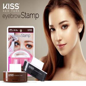 Image Is Loading Kiss Eye Brow Stamp Kit Dark Brown