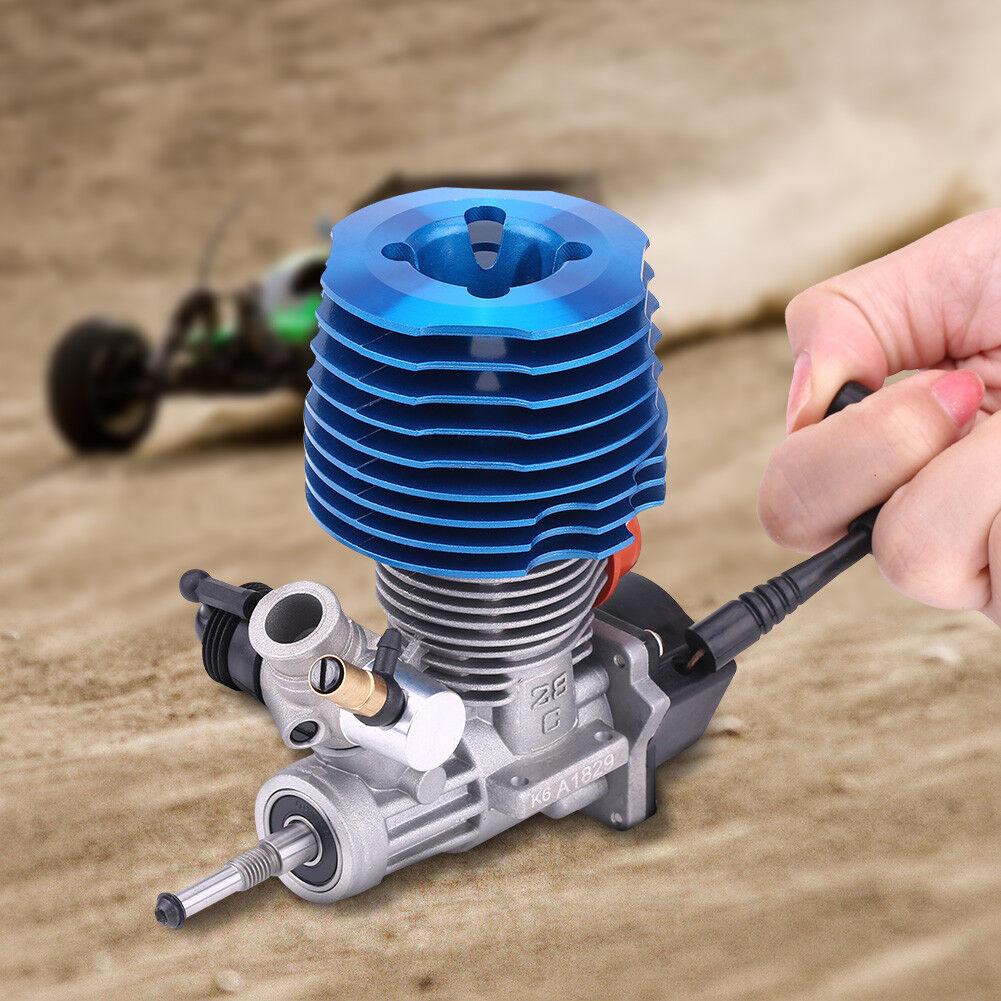 4.57CC 28 Motor Nitro Pull Starter 33000RPM para 1 8 RC Crawler camión RC Coche