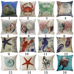 Decor-Throw-Pillow-Cover-Beach-Ocean-Seaside-Coastal-Pillowcase-Soft-Scenery