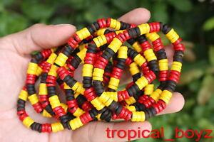 10 Aboriginal Coconut Shell Wood Wooden Stretchy Bracelets Wholesale