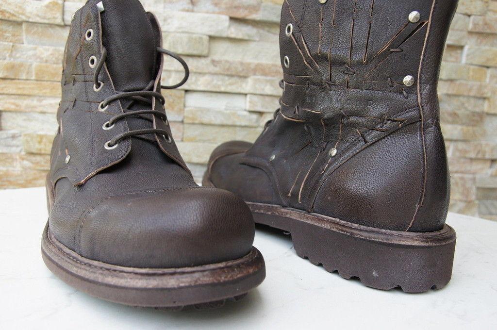 Original Richmond 40 Talla 6 6 6 Botas Zapatos Marrón Oscuro Nuevo Antiguo c6bb6a