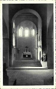 Mittelheim-Rhein-Postkarte-1920-30-St-Agidiuskirche-Innenansicht-Chorpartie