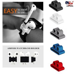 APPLE-AIRPODS-IWATCH-HOLDER-ANTI-LOST-SILICONE-CASE-WATCH-BAND-AIRPODS-HOLDER