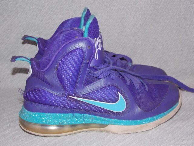 ea7b7905b663 Nike Lebron 9 Summit Lake Hornets 472664-500 Pure Purple turquoise ...