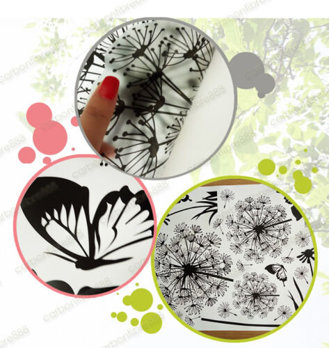 Transparent Black Dandelion Flowers Wall Stickers Art Decal Mural Paper Decor