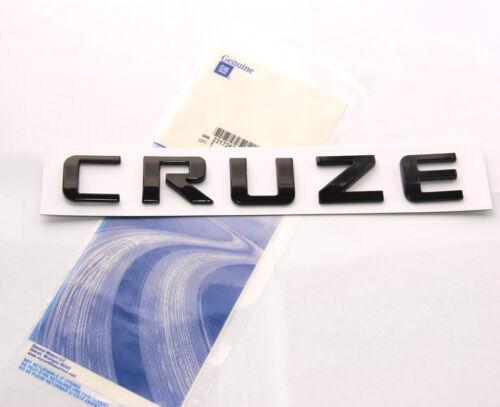 1x OEM Black CRUZE Nameplate Alloy Letter Emblem Badge 2011-2015 Chevrolet WU