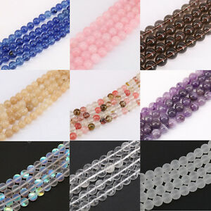 15-034-Natural-Quartz-Agate-Gemstone-Round-Spacer-Loose-Beads-Jewelry-Making-4-10MM