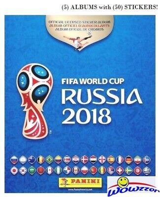20s World Cup 2018 Stickers /& Albums Panini FIFA Football Russia 5s 10s 50s