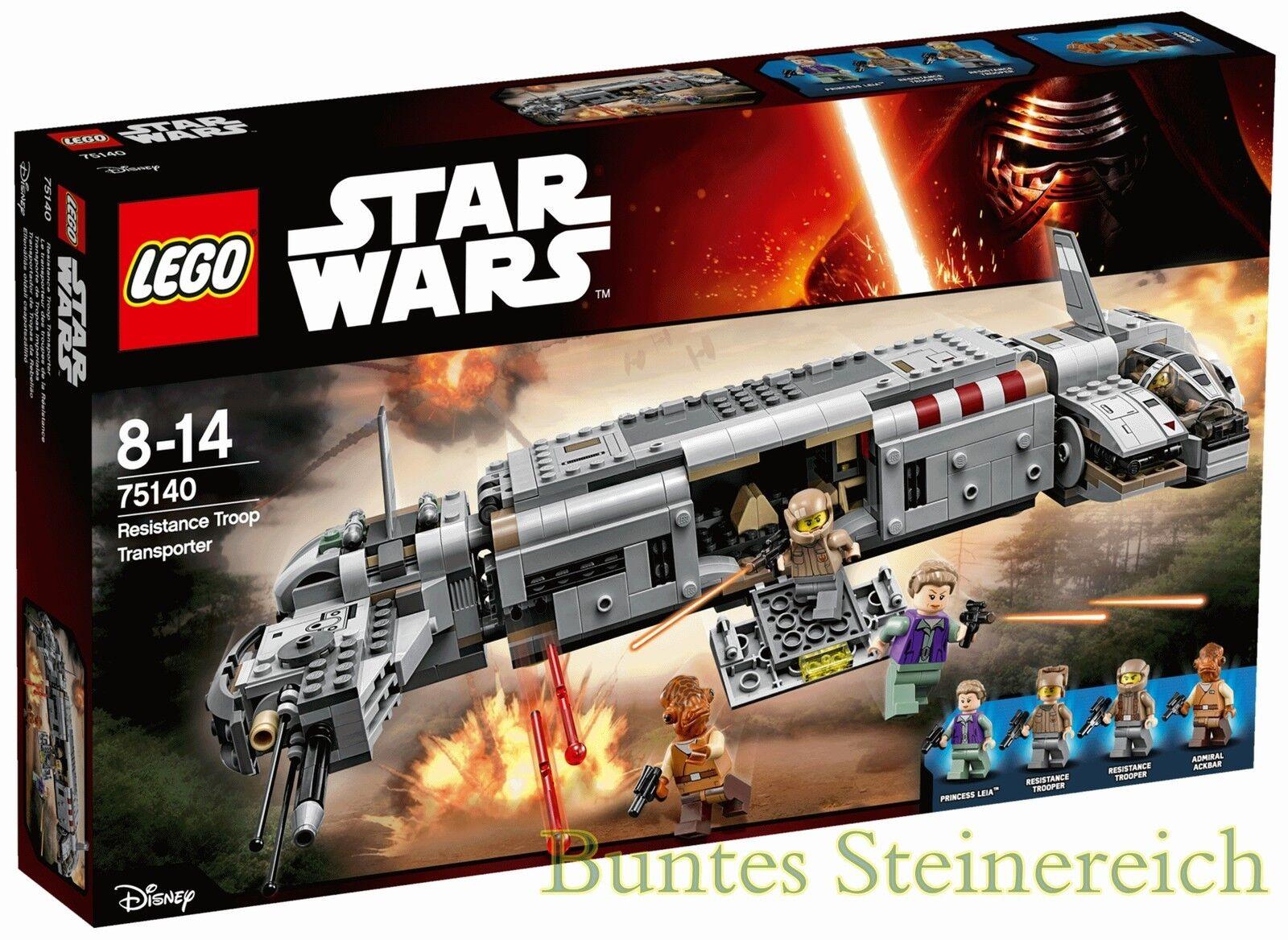 LEGO ® Star Wars ™: 75140 RESISTANCE TROOP Transporteur Transporteur Transporteur & 0. -€ expédition & neuf dans sa boîte & nouveau | Fabrication Habile  812d63