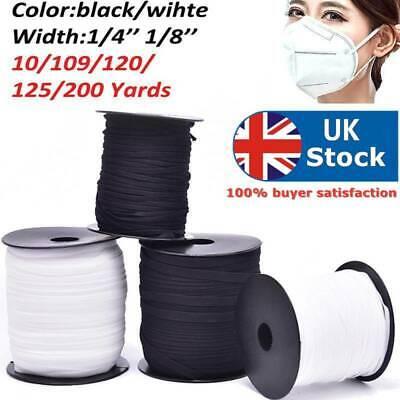 10-200 Yards Length DIY Braided Elastic Band Cord Knit Band Sewing 1//8 1//4 i.DD
