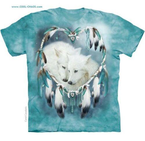 Maglietta Riserva Lupo aqua T Amanti Dreamcatcher A Tintura Cuore shirt Cuori qgw0ZB4w
