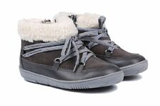 NEW CLARKS MAXI MOON FST GREY LEATHER BOOTS SHOES - UK size 6G
