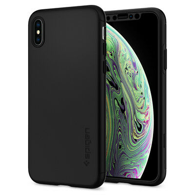 the latest a935d 3e9a8 iPhone XS / XS MAX | Spigen® [Thin Fit 360] Slim Protective Case+Tempered  Glass | eBay