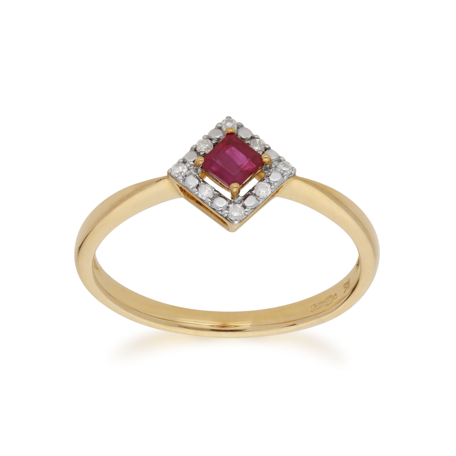 0568aa2cfa6de and 0.22ct gold Yellow 9ct Gemondo 0.04ct Ruby Ring Diamond ...