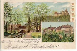 Postcard-Schlesien-Castle-Lichtenwalde-1901