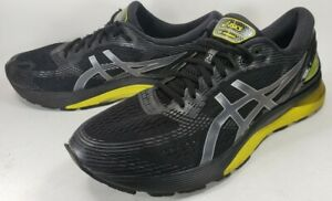 Asics-Gel-Nimbus-21-Men-039-s-Running-Shoes-Size-13M-Black-Lemon