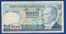 TURKEY BANKNOTES, 500 LIRA 1970, D SERIAL, 500 Türk Lirası !!