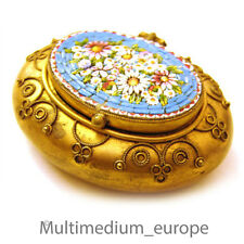 MILLEFIORI MICRO MOSAICO Barattolo da Roma dorato per 1860 micromosaic