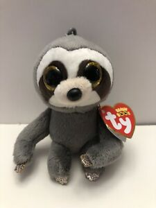 Ty Beanie Boos Dangler the Sloth Key Clip Size New with Tags Beanie Babies Plush