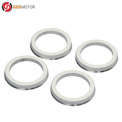 4pc Hubrings 72.6 mm OD to 54.1 mm ID Silver Aluminum Hub Centric Rings