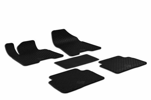 5-teilig Halter schwarz 2015- Gummifußmatten passend für Hyundai TUCSON