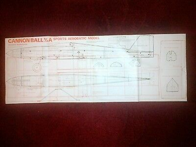 100% Vero Cannonball 1/2 A 2 Function Aerobatic Model Plan Materiali Accuratamente Selezionati